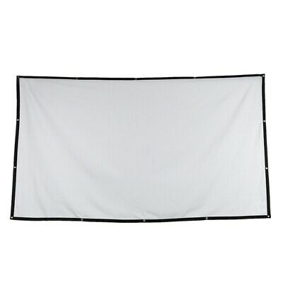 2X(Folded Projection Screen 16:9 Polyester 84 Inch Outdoor Gaming Durable P U1Z2
