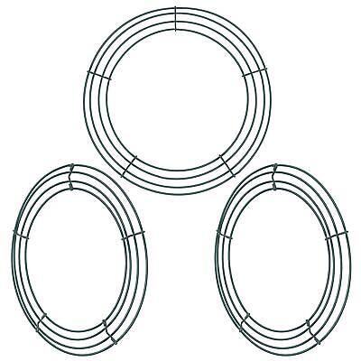 3 Pack Wire Wreath Rings Wire Wreath Frame For New Year Valentines Decoration