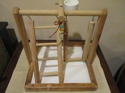 Bird Gym with Ladder/Swing and Cup