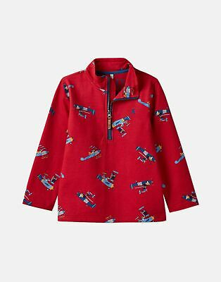 Joules Boys Dale Printed Overhead Sweat 1 6 Years in RED PLANES Size 3yr