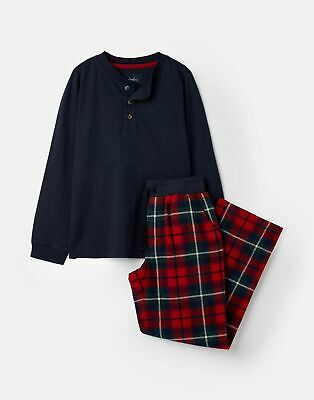 Joules Boys Settledown Jersey Woven Set 1 12 Years in RED CHECK Size 4yr