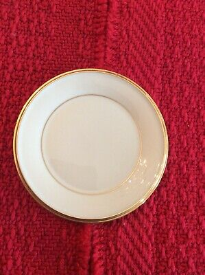 """Lot Of 4 Lenox China Eternal 8 1/8"""" Salad Plates Ivory with Gold Trim MINT"""