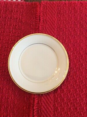 """Lot Of 4 Lenox China Eternal 6 1/4"""" Bread & Butter Plates Ivory, Gold Trim MINT"""