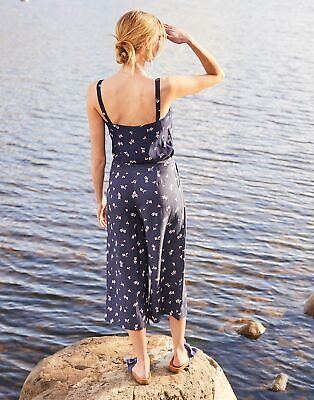 Joules Womens Alexi Print Culottes in NAVY FLORAL BUD Size 18