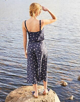 Joules Womens Alexi Print Culottes in NAVY FLORAL BUD Size 16