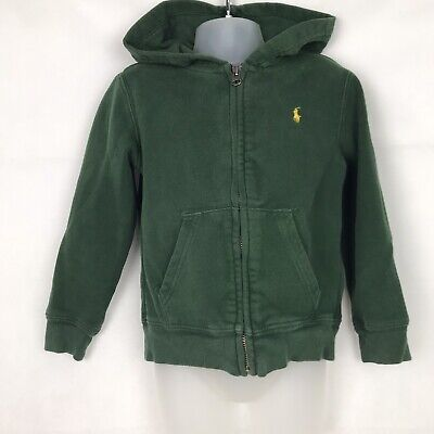 POLO RALPH LAUREN Kids Boys Girls Pine Green Full Zip Hoodie Jumper Size 5 Years