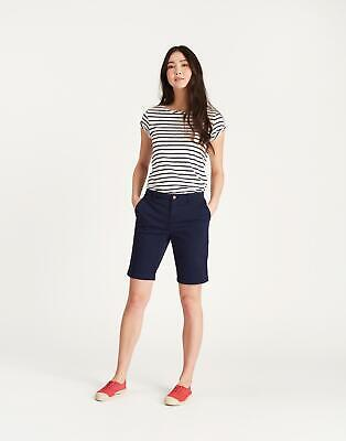 Joules Womens Rylee Longer Length Shorts in FRENCH NAVY Size 10