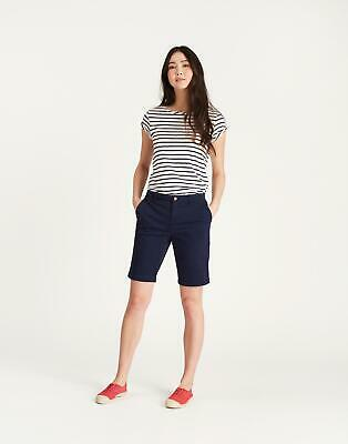 Joules Womens Rylee Longer Length Shorts in FRENCH NAVY Size 18