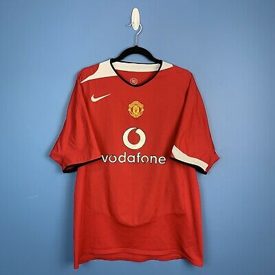 Manchester United Nike 2004-06 Football Home Shirt Jersey XL Vodafone