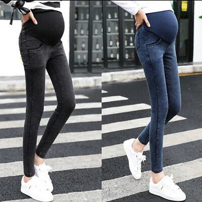 Fashion Pregnant Women Pants Slim Skiny Jeans Casual Trouser Maternity Jeans MO