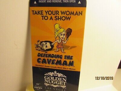 Golden Nugget Hotel & Casino-Las Vegas, NV.-Caveman Show- room key card- mint