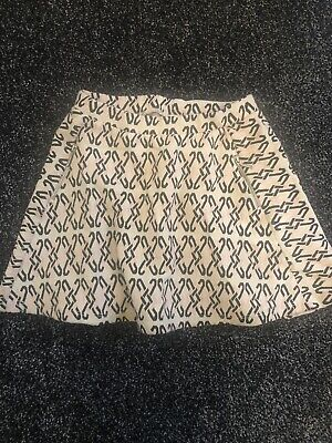 Girls White, Pink and Black River Island Skirt Age 4-5 years