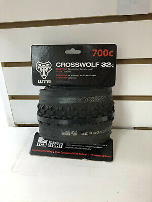 700 x 32 Black Folding Bead WTB Cross Wolf TCS Light Fast Rolling Tire