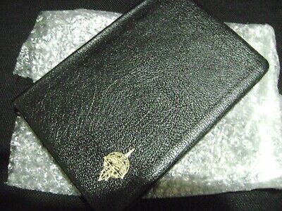 NKJV Thru the Bible  Radio Slimline Reference Edition (1983) - Black Genuine Lea