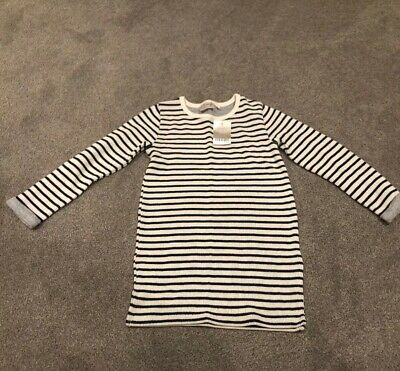 Next Girls Fine Knit Winter Striped Dress. Age 7 Years. New With Tags. RRP £13
