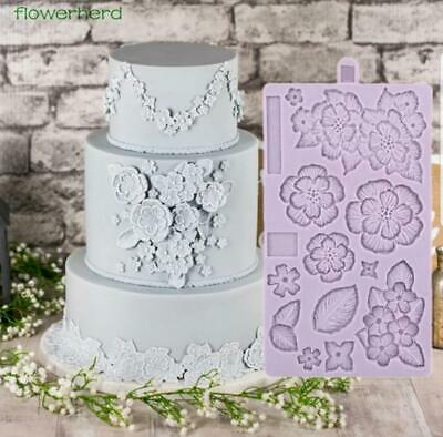 SM1709 Flowers Silicone Mould Mold Paperclay Cake fondant sculpting