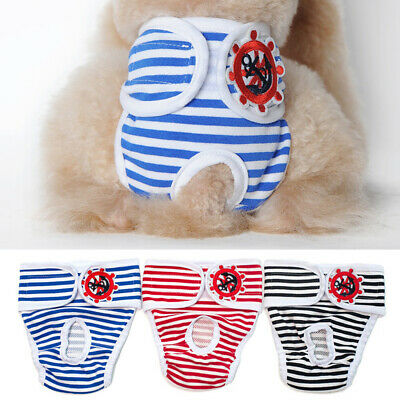 Washable Female Dog Diapers Puppy Physiological Pants Pet Underwear S/M/L/XL