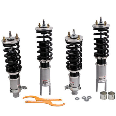 New Coilovers For Honda Civic 88-91 Acura Integra 90-93 Adjustable Damper Grey