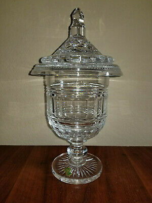 """WATERFORD CRYSTAL URN / COVERED CANDY BOWL CENTERPIECE  11.5"""" tall  STUNNING!"""