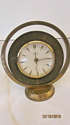 Atomic Compact Endura 7 Jewels Windup Clock Made In France Works brass