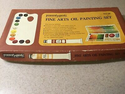 Vintage Permanent Pigments Artists Oil Colors Painting Set No. 38 Kit