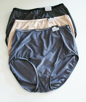 3 Vanity Fair Illumination Brief Panty Multi 13109 Sz 8/XL - NWT
