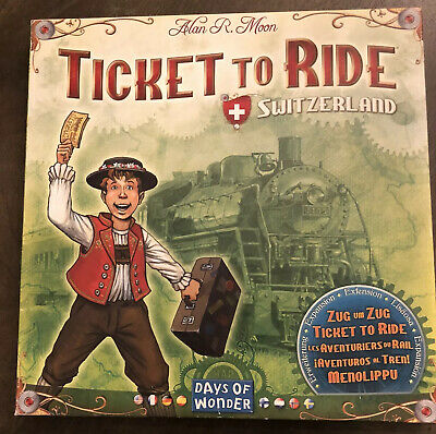 Ticket to Ride Switzerland Expansion Pack Days of Wonder, Open Box; Barely Used