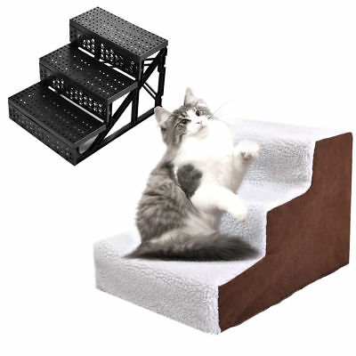 Pet Stairs Dog Steps Ramp Folding Animal Cat Ladder with Cover Indoor