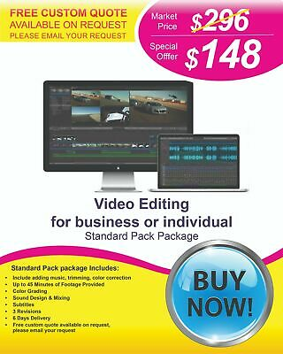 $148 - Professional Video Editing Services at Lower Cost