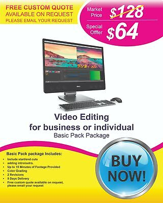$64 - Video Editing Services at Lower Cost