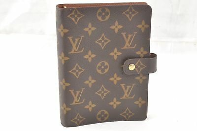 Authentic Louis Vuitton Monogram Agenda MM Day Planner Cover R20004 LV 57933