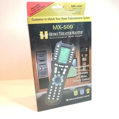 Home Theater Master MX-500 Universal Programmable Learning Remote Control