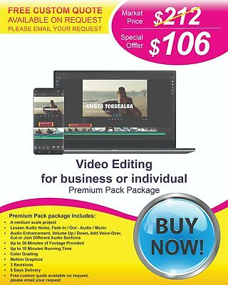 $106 - Professional/Best Video Editing Services at Lower Cost