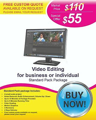 Professional Video Editing Services at Lower Cost from $55