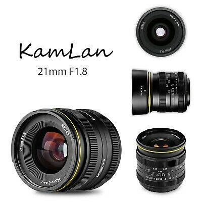 KAMLAN New Product KL21MM F1.8 Wide-angle Fixed Focus APS-C Frame Mirrorless len