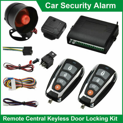 Universal Car Security Alarm Anti-theft System Remote Central Locking & 2 Fobs