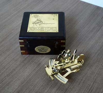 Marine Sextant 4 Inch Solid Brass Gold Color Astrolabe Ship Instrument