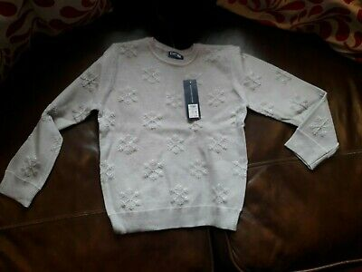 Snowflake Sparkly Christmas Jumper age 5-6 Years. New with Tags