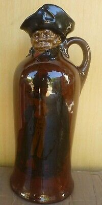 Figural Doulton Kingsware THE NIGHT WATCHMAN cylindrical body DEWARS whisky