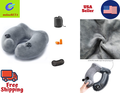 Inflatable Travel Pillow for Air Planes Neck Support Face Cradle Pillow Cushion