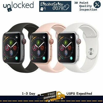Apple Watch Series 4 44mm GPS + Cellular 4G LTE Gold Space Gray Silver
