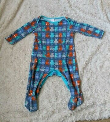 Baby Boys Robot Sleepsuit Babygrow Age Size 6-9 months - up to 9kg 100% Cotton