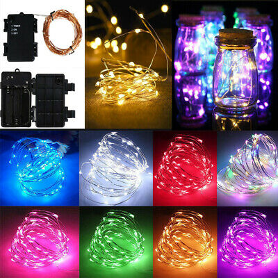 Micro LED Wire Battery Fairy Rice Lights Waterproof Timer Indoor Outdoor Lights