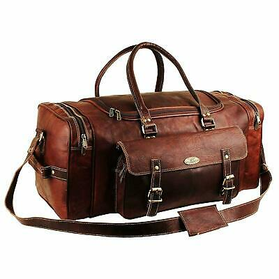 Large Leather Travel Bags for Men Duffel Bag Gym Sports Overnight Weekend Bag