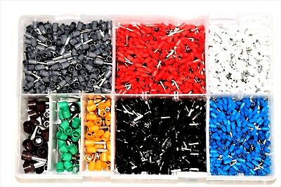 Assorted Box of French Cord End Terminals QTY 2600 0.5mm - 10.0mm Car Auto AT87