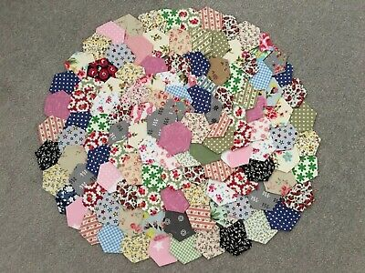 Brand New Ready Tacked Patchwork Hexagons X 120  100% Cotton