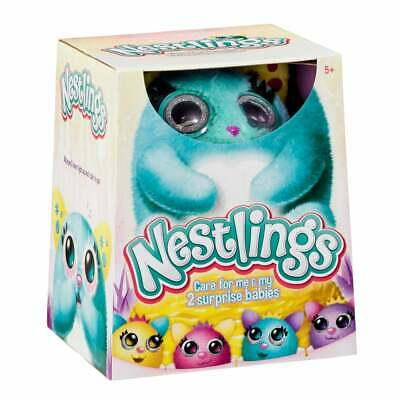 Nestlings Interactive Pet and Babies with Lights and Sounds - Teal Blue