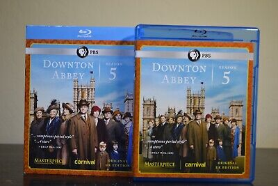 Downton Abbey (Blu-Ray, 2015) Season 5 Complete 3-Disk Set | Slipcover Included