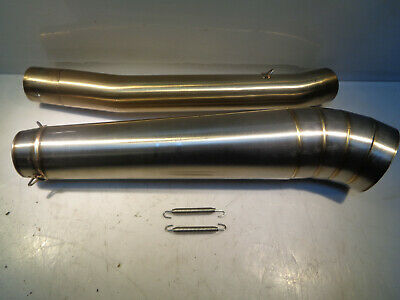 B1(2) - Dan Moto Left hand stainless steel race style exhaust can & connector