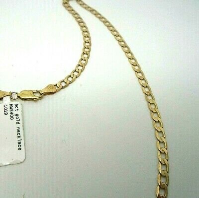 """16/"""" 18/"""" 20/"""" 375 9ct Yellow Gold Rada Link Necklace 1.4mm Fully Hallmarked"""